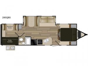 Shadow Cruiser S-280QBS Floorplan Image