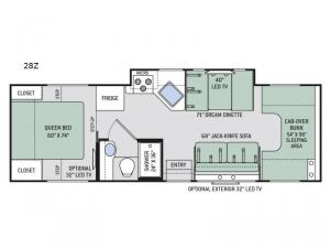 Four Winds 28Z Floorplan Image