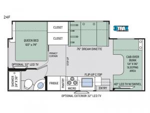 Four Winds 24F Chevy Floorplan Image