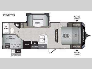 Passport 2400BHWE GT Series Floorplan Image