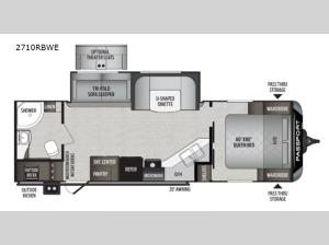 Passport 2710RBWE GT Series Floorplan Image