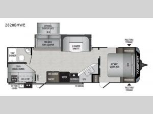 Passport 2820BHWE GT Series Floorplan Image