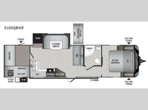 Passport 3100QBWE GT Series Floorplan Image