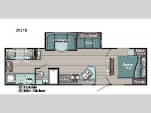 Trailmaster 301TB Floorplan Image