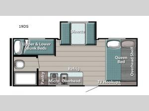 Ameri-Lite Super Lite 19DS Floorplan Image