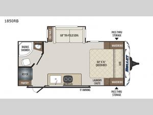 Bullet Crossfire 1850RB Floorplan Image