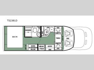 Forester TS 2381D Floorplan Image