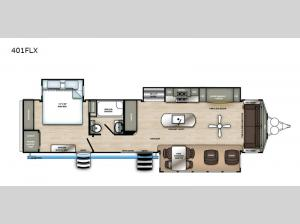 Sandpiper Destination Trailers 401FLX Floorplan Image