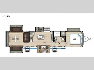 Sandpiper Destination Trailers 403RD Floorplan Image