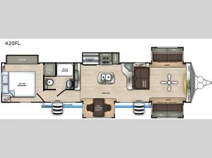 Sandpiper Destination Trailers 420FL Floorplan Image
