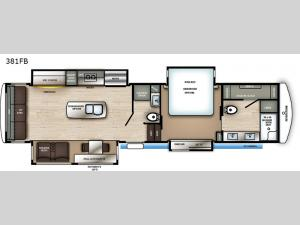 RiverStone 381FB Floorplan Image