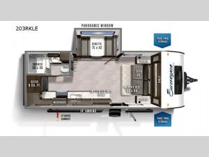 Surveyor Legend 203RKLE Floorplan Image