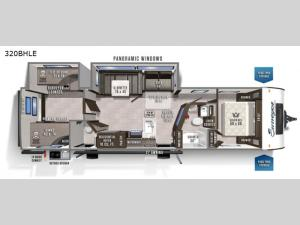 Surveyor Legend 320BHLE Floorplan Image