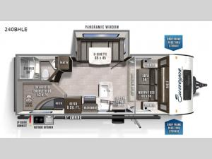 Surveyor Legend 240BHLE Floorplan Image