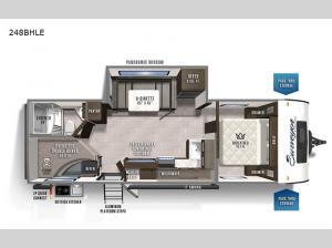 Surveyor Legend 248BHLE Floorplan Image