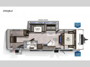 Surveyor Legend 295QBLE Floorplan Image