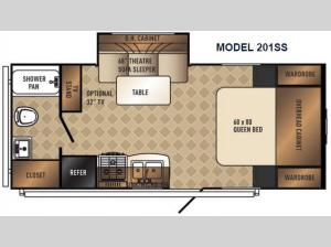 SolAire Ultra Lite 201SS Floorplan Image