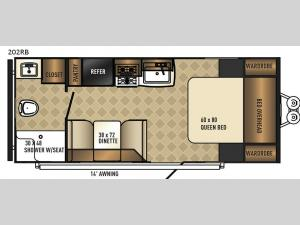 SolAire Ultra Lite 202RB Floorplan Image