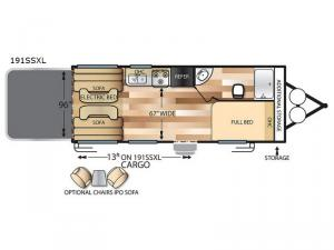 Salem Cruise Lite 191SSXL Floorplan Image