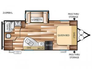 Salem Cruise Lite 210RBXL Floorplan Image
