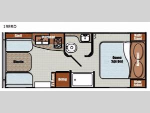Vista Cruiser 19ERD Floorplan Image