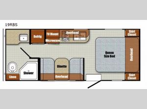 Vista Cruiser 19RBS Floorplan Image
