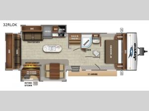 Jay Flight 32RLOK Floorplan Image