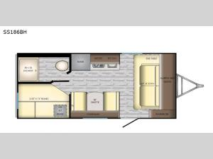 Sunset Trail SS186BH Floorplan Image