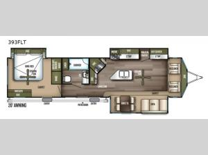 Wildwood Lodge 393FLT Floorplan Image