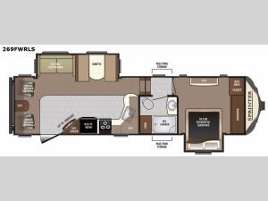 Sprinter 269FWRLS Floorplan Image