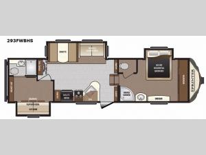 Sprinter 293FWBHS Floorplan Image