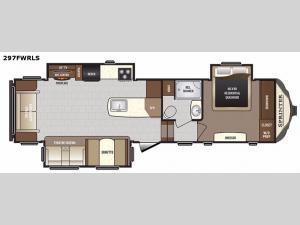 Sprinter 297FWRLS Floorplan Image