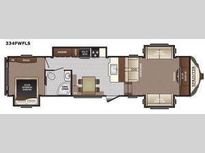 Sprinter 334FWFLS Floorplan Image