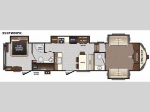 Sprinter 359FWMPR Floorplan Image