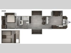 Cherokee Destination Trailers 39SR Floorplan Image