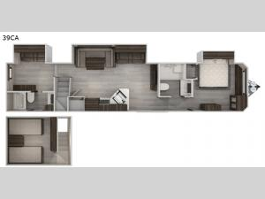 Cherokee Destination Trailers 39CA Floorplan Image
