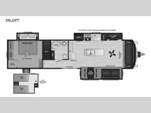 Retreat 39LOFT Floorplan Image