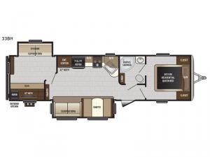 Sprinter Campfire Edition 33BH Floorplan Image