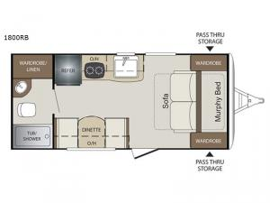 Bullet Crossfire 1800RB Floorplan Image