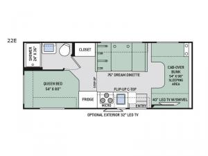 Chateau 22E Chevy Floorplan Image