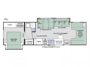 Chateau 31L Floorplan Image