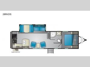 North Trail 28RKDS Floorplan Image