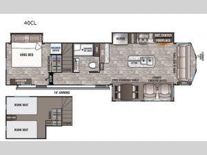 Cedar Creek Cottage 40CL Floorplan Image