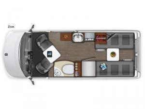 Roadtrek Zion Floorplan Image
