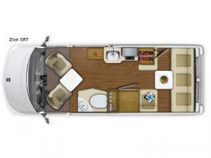 Roadtrek Zion SRT Floorplan Image