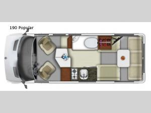 Roadtrek 190 Popular Floorplan Image
