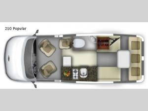 Roadtrek 210 Popular Floorplan Image