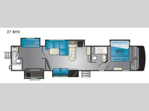 ElkRidge 37BHS Floorplan Image