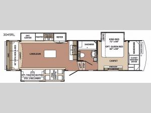 Blue Ridge 3045RL Floorplan Image