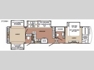 Blue Ridge 3720BH Floorplan Image